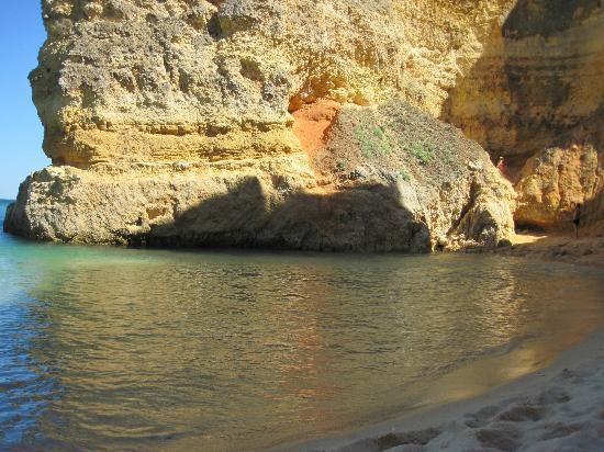 Interesting rock formations at Praia Dona Ana