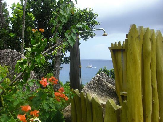 Hotel L'Ocean: Gartendusche