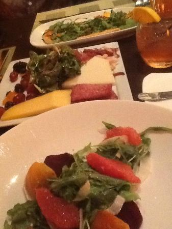 Kil@Wat: From top; cheese flatbread, charcuterie, beet n grapefruit salad