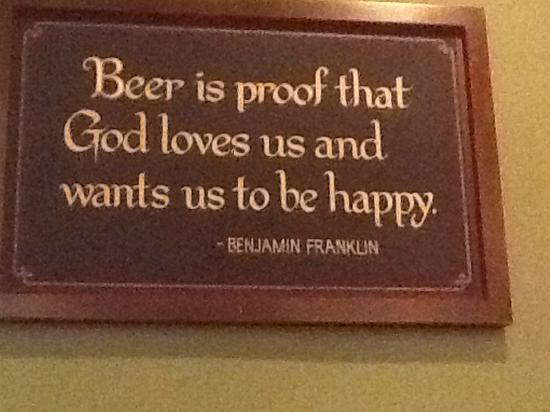 Timothy O'Toole's Pub Gurnee: Sign on the wall at Timothy O'Tooles in Gurnee, IL