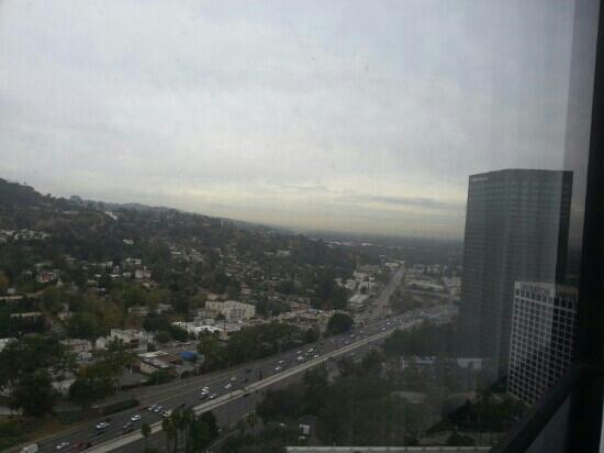 Hilton Los Angeles/Universal City: view from my room at Hilton 19th floor