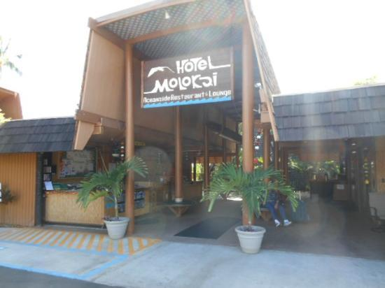 Entrance/ reception area of hotel molokai