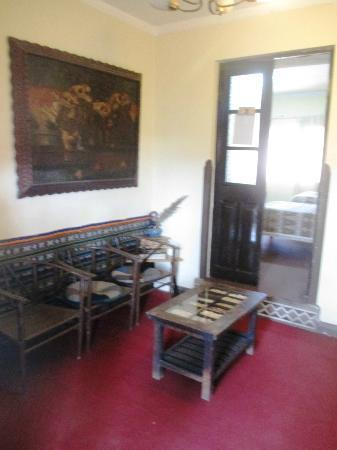 Hospedaje Turistico Recoleta: The sitting room of our little suite we got by booking early for two private rooms
