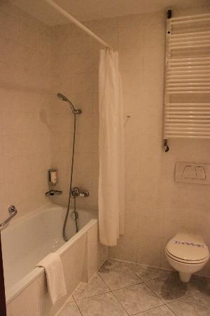 Warminski Hotel & Conference: Short shower & towel warmer