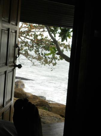 Treehouse Silent Beach: Fotat från sängen