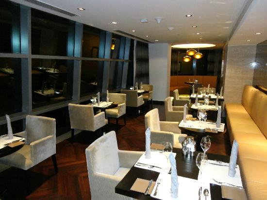 Jumeirah at Etihad Towers: Buffet Eating Area in Club Lounge