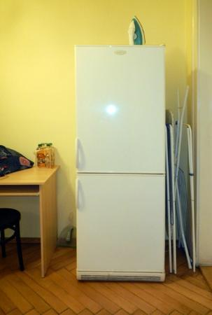 Hotel Apartments Templova: fridge, ironing board