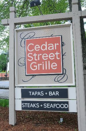New Cedar Street Grille Sign