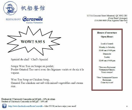 Restaurant Caravelle : Our speciality