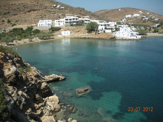 Faros beach and village
