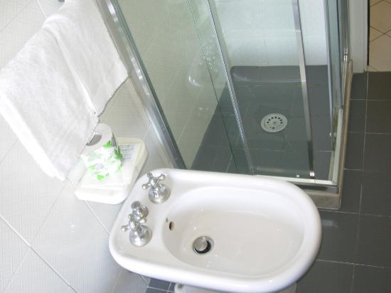 Hotel Italia: detalle ducha y bidé