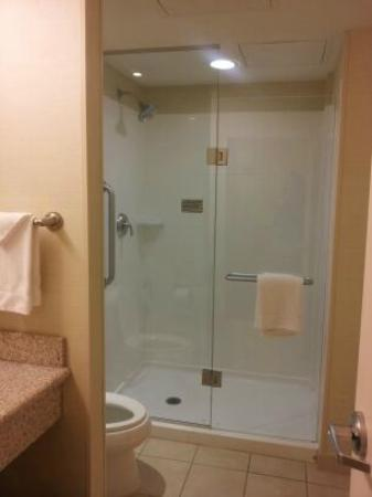 Courtyard by Marriott Tulsa Downtown: Bathroom, from inside door