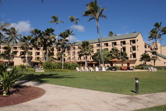 Courtyard Kaua'i at Coconut Beach: Spacious grounds on the beach side