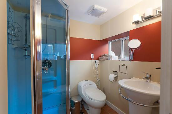 Commercial Drive Accommodations: Domain Apartment en suite bathroom to African bedroom