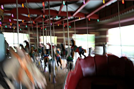 Central Park Carousel isn't slow!