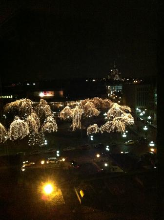 The Saint Paul Hotel: Lights in park; view from my room