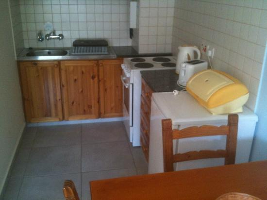 Damon Hotel Apartments: The well equipped kitchen in my apartment