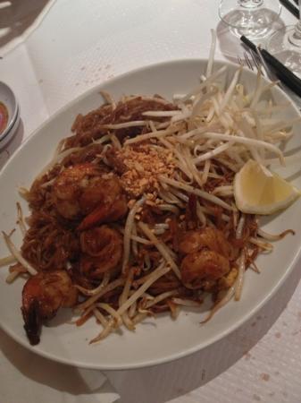 Apsara Celeste: pâte thaï sauté aux crevettes