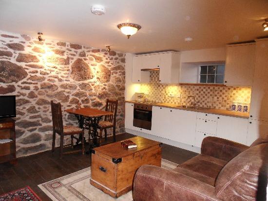 Mill of Nethermill Holidays: The Neuk lounge / kitchen
