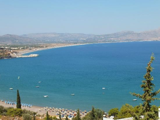 Lindos Mare Hotel: view over vlicha bay
