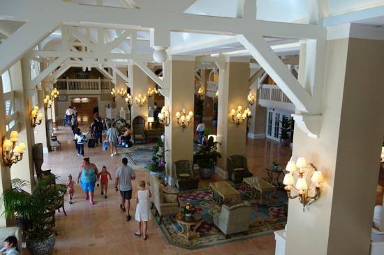 Disney's Beach Club Resort: Overlooking the (small) lobby area