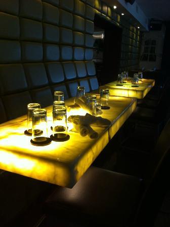 Buckhead Bottle Bar: Stylish Glow In The Dark Dining