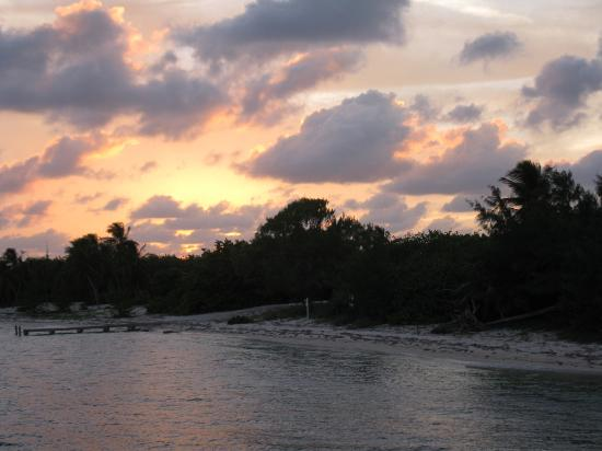 Little Cayman Beach Resort: Sunset from the dock at LCBR