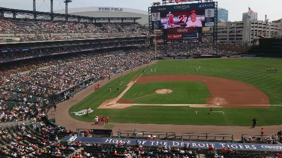 View From The Suite At Comerica Tigers Baseball Game Picture Of