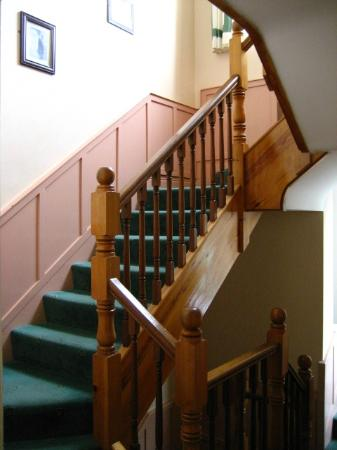 St. Jude's Lodge: Staircase leading to upper floor rooms
