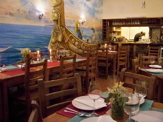 Travesía Azul Restaurante: Pintura do local