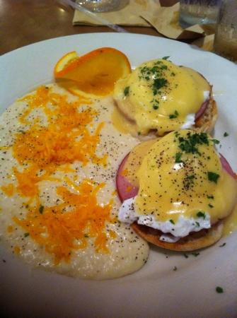 The Brick: Eggs Benedict with Cheese Grits