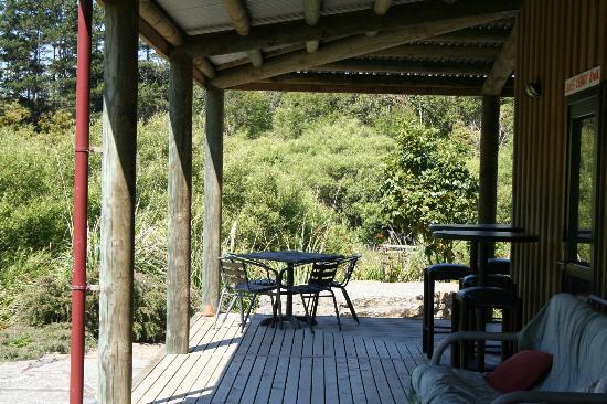 Nikau Cave Cafe : Outside area