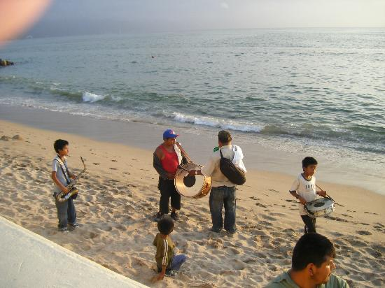 Las Palmas by the Sea: Children Entertaining on Beach