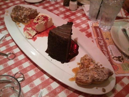 Try Some Of Each Dessert Picture Of Buca Di Beppo Italian Restaurant Brea Tripadvisor