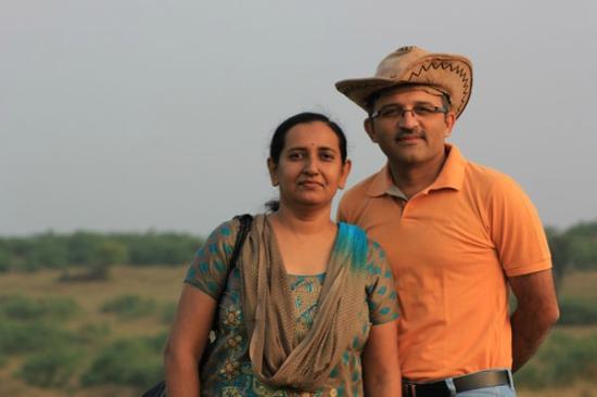 Blackbuck Resort: myself and wife