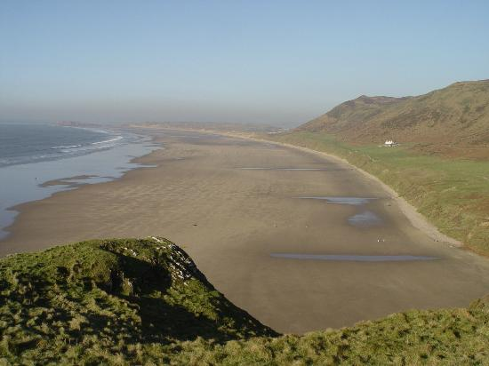 Rhossili Bay from the cliff path on route to Worms Head.