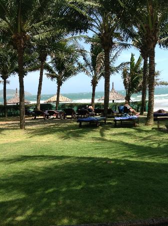 Pandanus Resort: Pool and beach