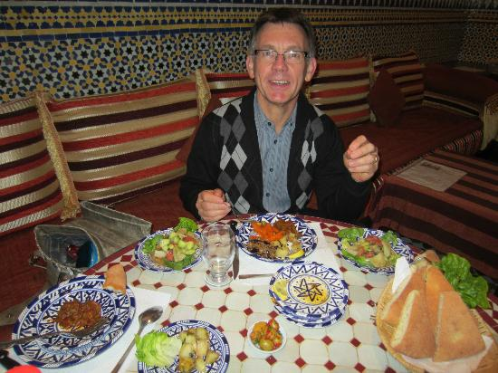 Riad Ahlam: Appetizers for dinner
