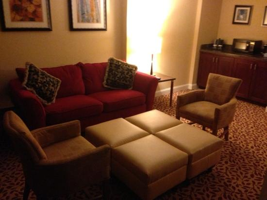 Denver Airport Marriott at Gateway Park: Living room, Suite 230.