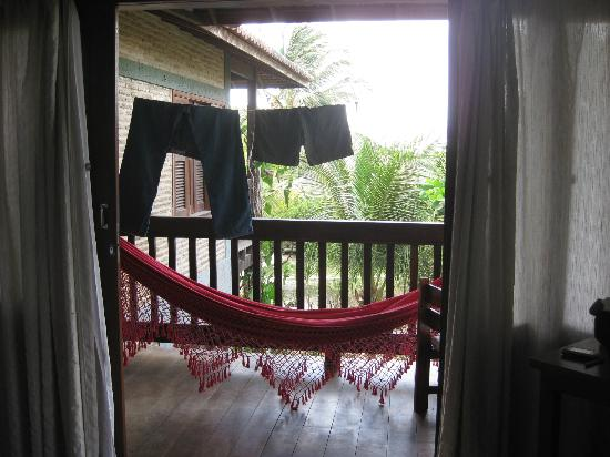 Pousada Vila Bela Vista: spacious deck-excuse our laundry