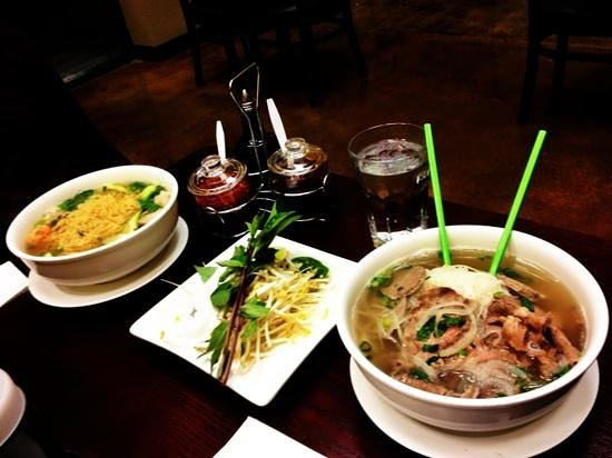 Green Garden Pho: House Special Pho and Wonton Soup w/ Egg Noodles.