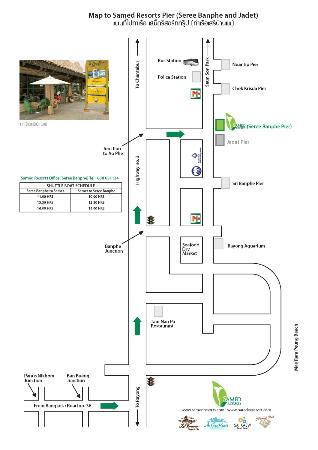 Sai Kaew Beach Resort: Map to Seree Ban Phe (Hotel Pier)
