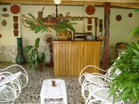 Casa Hostal Ivan & Lucy: patio tropical