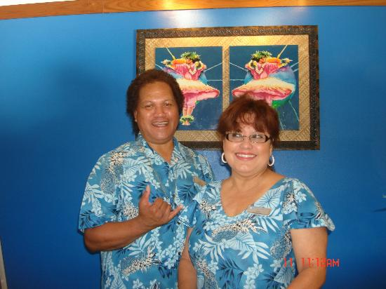 Wyndham Kona Hawaiian Resort: Albert and Rose at the resort