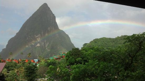 Boucan by Hotel Chocolat : Rainbow view from room