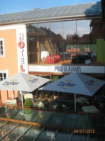 Erlebnis Post Stadthotel -  Hotel mit EigenART: View from my room in the afternoon