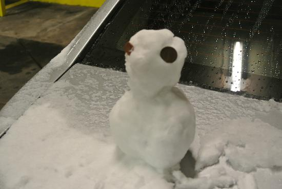 Park Plaza Resort: Had fun making a snowman in the underground car park