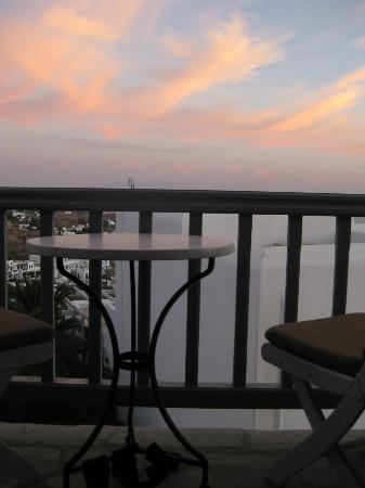 Myconian Ambassador Relais & Chateaux Hotel: Blick vom Balkon
