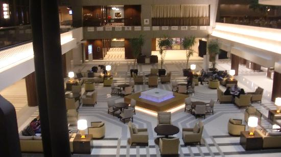 the lobby atrium at night north end picture of sheraton. Black Bedroom Furniture Sets. Home Design Ideas