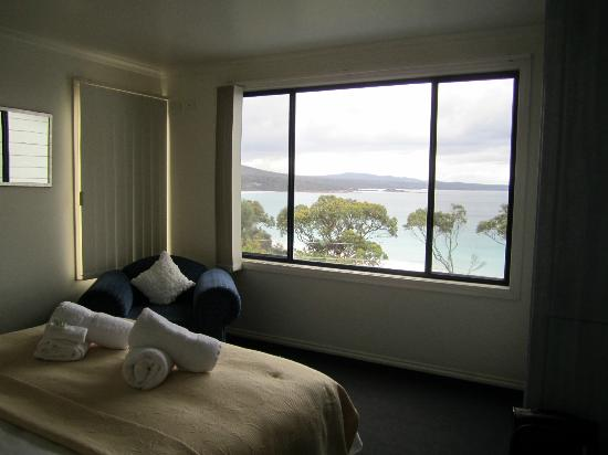 Bay of Fires Character Cottages: Wake-up view